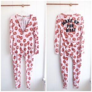 New Victoria's Secret Pink Donut Henley Pajamas